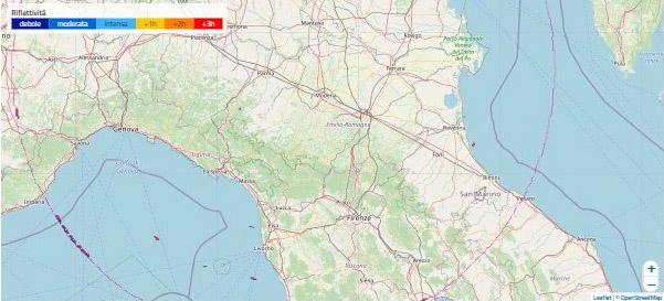 mappa echi radar