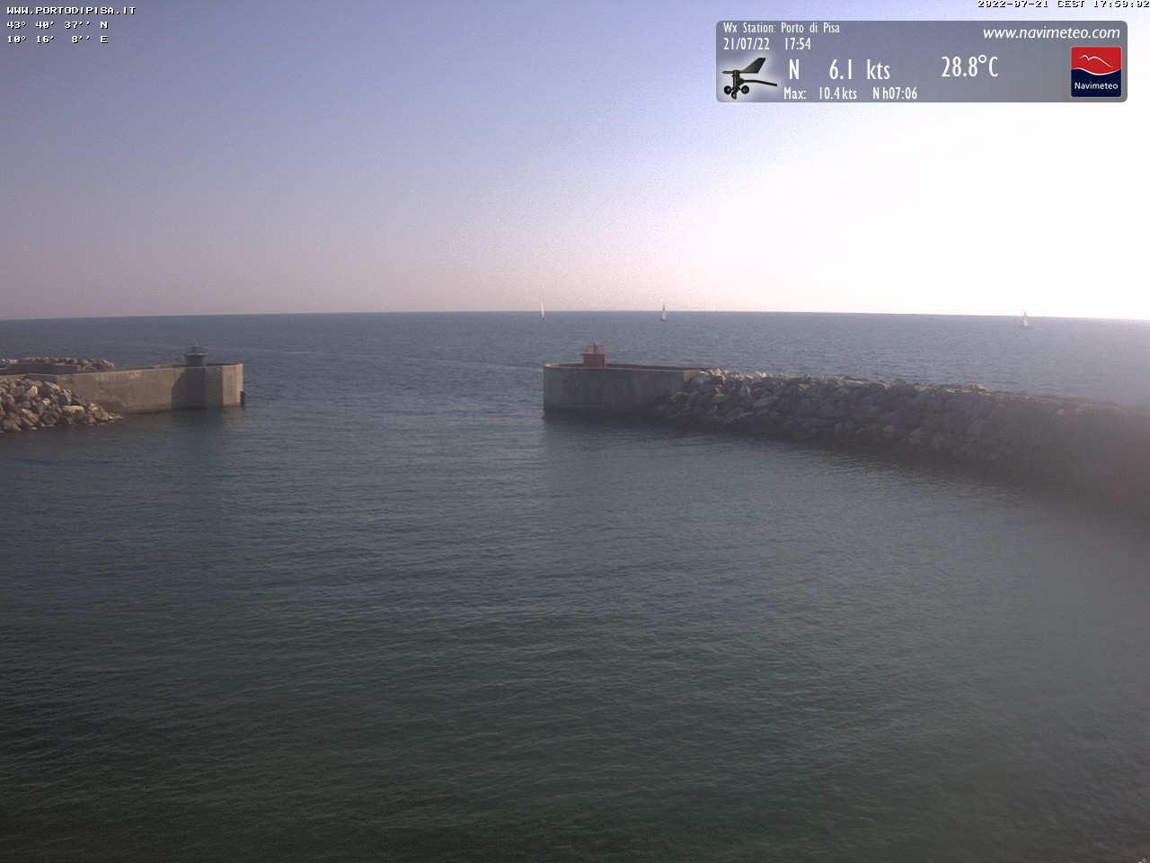 webcam Marina di Pisa - porto